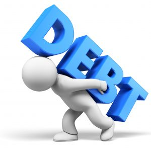 debt stock image