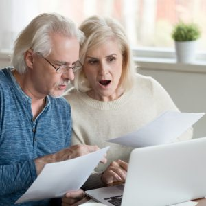 couple going over bills